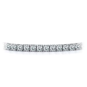 Certified 14k White Gold 4-Prong Round Diamond Tennis Bracelet 2.00 ct. tw. (I-J, I1)