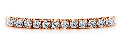 Certified 14k Rose Gold 4-Prong Round Diamond Tennis Bracelet 2.00 ct. tw. (I-J, I1)