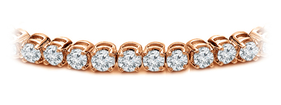 Certified 14k Rose Gold Classic 4-Prong Round Diamond Tennis Bracelet 2.00 ct. tw. (I-J, I1)