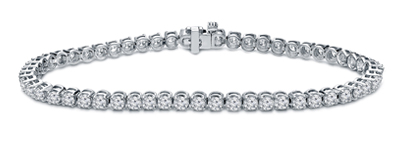Certified 14k White Gold Classic 4-Prong Round Diamond Tennis Bracelet 2.00 ct. tw. (I-J, I1)