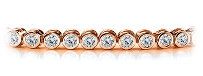 Certified 14k Rose Gold Bezel Round Diamond Tennis Bracelet 2.00 ct. tw. (I-J, I1)
