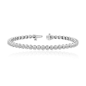 Certified 14k White Gold 3-Prong Round Diamond Tennis Bracelet 2.00 ct. tw. (I-J, I1)