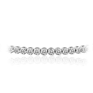 Certified 14k White Gold 3-Prong Round Diamond Tennis Bracelet 2.00 ct. tw. (I-J, I1)