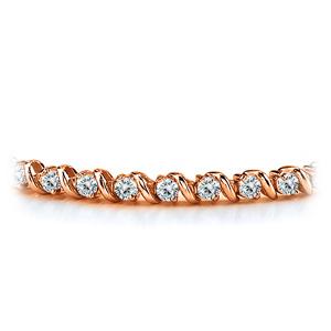 Certified 14k Rose Gold Round Diamond Tennis Link Bracelet 2.00 ct. tw. (I-J, I1)