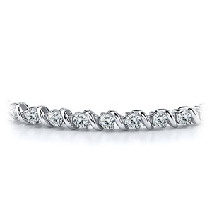 Certified 14k White Gold Round Diamond Tennis Link Bracelet 2.00 ct. tw. (I-J, I1)