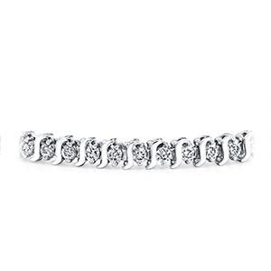 Certified 14k White Gold S Link Round Diamond Tennis Bracelet 1.00 ct. tw. (I-J, I1)