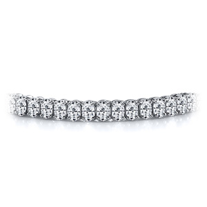 Certified 14k White Gold Oval Diamond Tennis Bracelet 12.00 ct. tw. (I-J, I1)