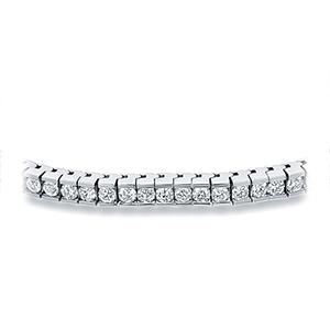 Certified 14k White Gold Channel Set Round Diamond Tennis Bracelet 2.00 ct. tw. (I-J, I1)