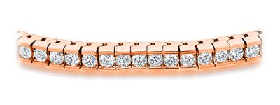 Certified 14k Rose Gold Channel Set Round Diamond Tennis Bracelet 2.00 ct. tw. (I-J, I1)