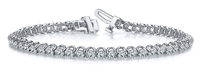 Certified 14k White Gold Prong Set Round Diamond Tennis Bracelet 1.00 ct. tw. (I-J, I1)
