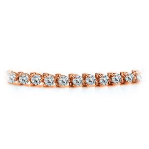 Certified 14k Rose Gold 3-Prong Round Diamond Tennis Bracelet 1.00 ct. tw. (H-I, SI)
