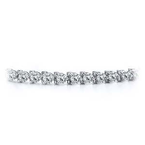 Certified 14k White Gold 3-Prong Round Diamond Tennis Bracelet 1.00 ct. tw. (I-J, I1)