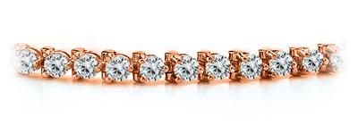 Certified 14k Rose Gold 3-Prong Round Diamond Tennis Bracelet 1.00 ct. tw. (I-J, I1)