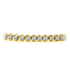 Certified 14k Yellow Gold Prong Set Round Diamond Tennis Bracelet 1.00 ct. tw. (I-J, I1)