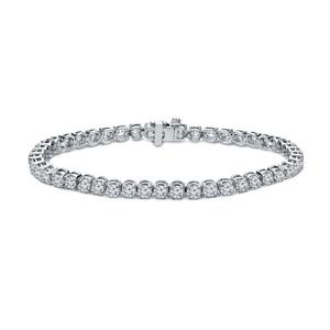 Certified 14k White Gold Prong Set Round Diamond Tennis Bracelet 2.00 ct. tw. (I-J, I1)