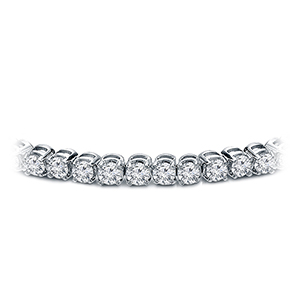 Certified 14k White Gold Prong Set Round Diamond Tennis Bracelet 2.00 ct. tw. (I-J, I1)
