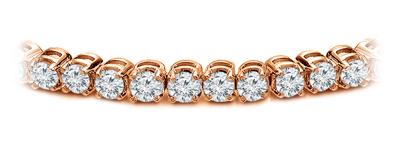 Certified 14k Rose Gold Prong Set Round Diamond Tennis Bracelet 2.00 ct. tw. (I-J, I1)