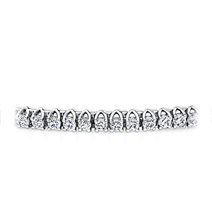Certified 14k White Gold Prong Set Round Diamond Tennis Bracelet 1.00 ct. tw. (I-J, I1)