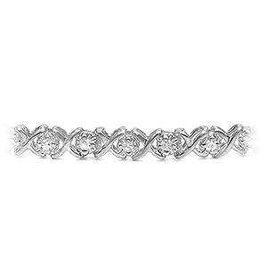 Certified 14k White Gold Round-cut Diamond Tennis Link Bracelet 1.25 ct. tw. (I-J, I1)