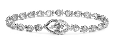 Certified 14k White Gold Round-cut Diamond Tennis Link Bracelet 0.75 ct. tw. (I-J, I1)