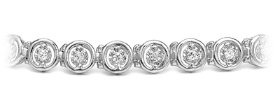 Certified 14k White Gold Round-cut Diamond Tennis Link Bracelet 0.50 ct. tw. (I-J, I1)