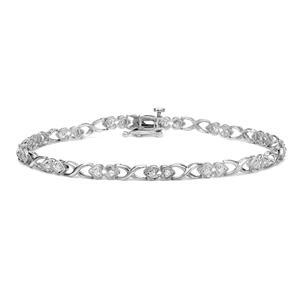 Certified 14k White Gold Round-cut Diamond Tennis Link Bracelet 0.25 ct. tw. (I-J, I1)