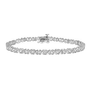 Certified 14k White Gold Round-cut Diamond Tennis Link Bracelet 1.00 ct. tw. (I-J, I1)