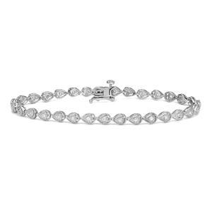 Certified 14k White Gold Round-cut Diamond Tennis Link Bracelet 0.40 ct. tw. (I-J, I1)