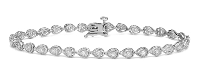 Certified 14k White Gold Round-cut Diamond Tennis Link Bracelet 0.40 ct. tw. (I-J, I1)