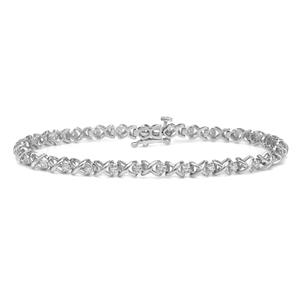 Certified 14k White Gold Round-cut Diamond Tennis Link Bracelet 0.30 ct. tw. (I-J, I1)