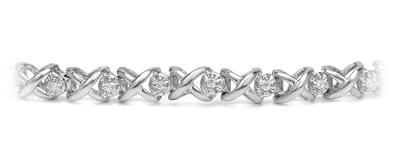 Certified 14k White Gold Round-cut Diamond Tennis Link Bracelet 0.30 ct. tw. (I-J, I1)