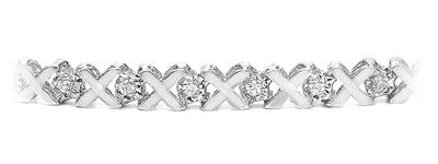 Certified 14k White Gold Round-cut Diamond Tennis Link Bracelet 0.20 ct. tw. (I-J, I1)