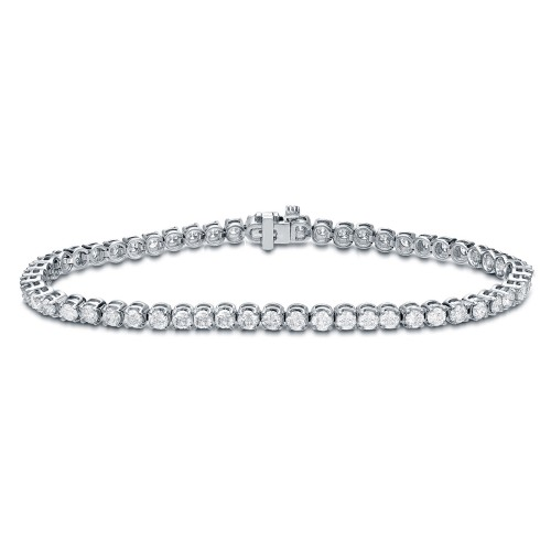 Diamond Tennis Bracelet 1.00 ct. tw. (G-H, SI1-SI2) in 10K White Gold, 7.25 inch