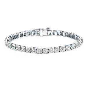 Classic 4-Prong Round Diamond Tennis Bracelet in 14K White Gold 10.00 ct. tw. (H-I, VS1-VS2)