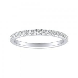 Pave Lab Grown Diamond Ring in 14K White Gold  0.40 ct. tw. (E-F, VS1-VS2)