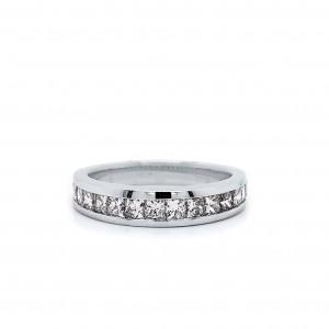 Princess Channel Set Diamond Ring in 14k White Gold 0.75 ct. tw. (H-I, VS1-VS2)