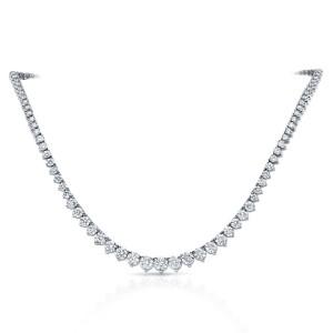 Diamond Eternity Neckalce in 18k White Gold 10.00 ct. tw. (E-F, VS)