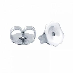 14k White Gold Earring Backing