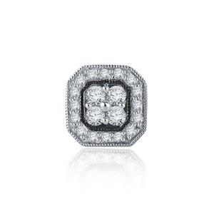Certified 0.38 cttw Round Cut SINGLE White Diamond Earring in 10k White Gold