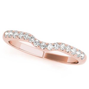 CHER Modern Diamond Wedding Ring in 14K Rose Gold