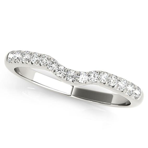 CHER Modern Diamond Wedding Ring in 14K White Gold
