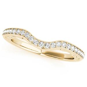 LISA Modern Diamond Wedding Ring in 14K Yellow Gold
