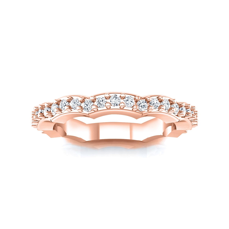 JUNIPER Diamond Wedding Ring In 14K Rose Gold