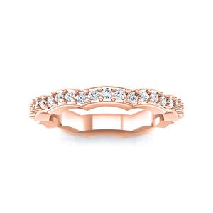 JUNIPER Diamond Wedding Ring In 14K Rose Gold