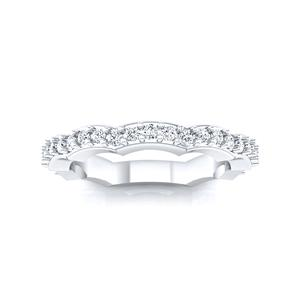 JUNIPER Diamond Wedding Ring In 14K White Gold