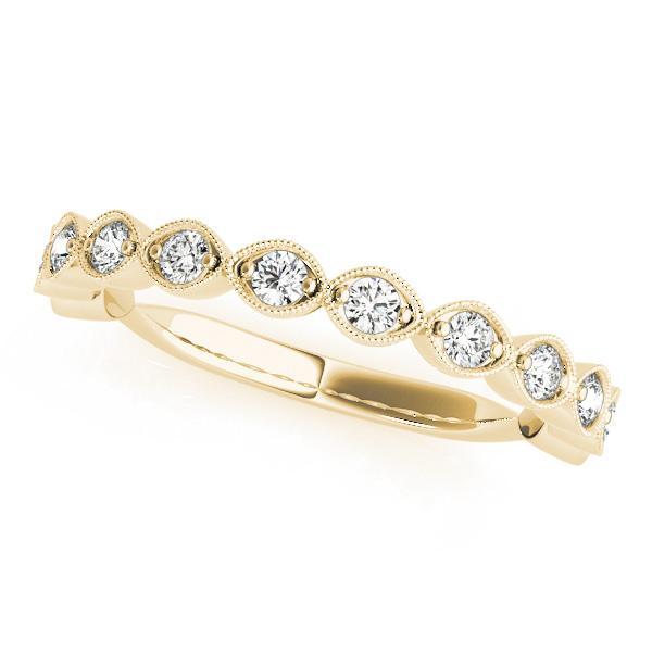 ANNETTE Vintage Diamond Wedding Ring in 14K Yellow Gold