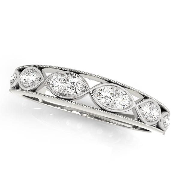 GILA Vintage Diamond Wedding Ring in 14K White Gold