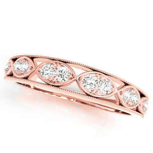 GILA Vintage Diamond Wedding Ring in 14K Rose Gold