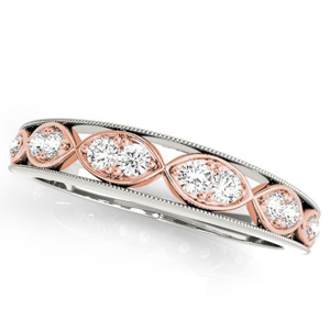 GILA Vintage Diamond Wedding Ring in 14K Two-Tone