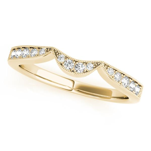 PEONY Vintage Diamond Wedding Ring in 14K Yellow Gold
